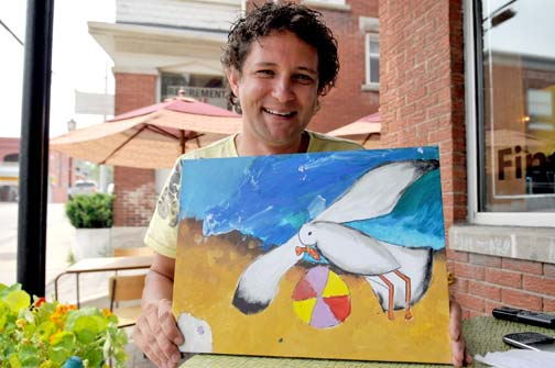 Paul Field's parent-paid art program has spread to 30 schools in the Waterloo Region. He's bringing an Art Innovators summer camp to Elmira this month.[Will Sloan / the observer]