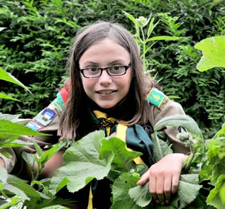 Elmira's Annie Straus is in Alberta today (July 6) for the kick off of the 2013 Canadian Scout Jamboree. An Elmira Scout for the first time this year, she's travelling with her uncle and a troop from Burlington. [Elena Maystruk / the observer]