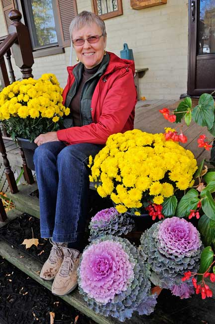 With the growing season steadily fading, Barb Smith invites gardening enthusiasts in Heidelberg to look toward Elmira and District Horticultural Society's garden tour next summer. [Elena Maystruk / The Observer]