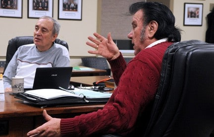 Councillors Jim Olender (left) and Herb Neher warned that illegal dumping could become prevalent with the closure of the transfer station.[Will Sloan / The Observer]
