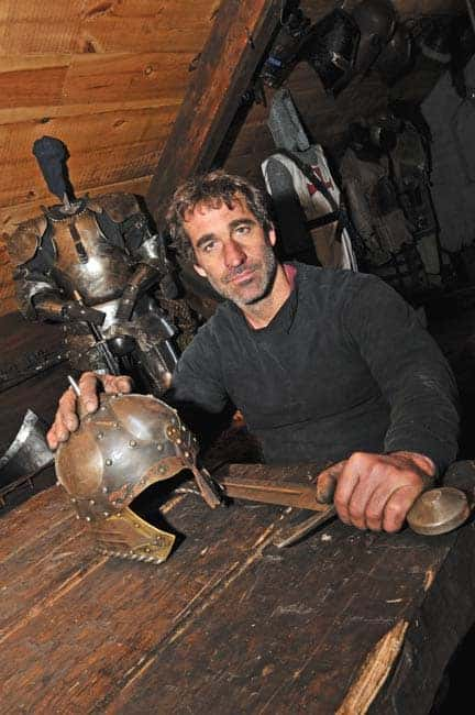 Robb Martin of Thak Ironworks has spent years developing new and ancient forms of blacksmithing skills.  Martin and crew share their passion for the craft in a pilot episode of their new television show Metal Masters for the first time on History May 14 at 10 p.m. [Elena Maystruk / The Observer]