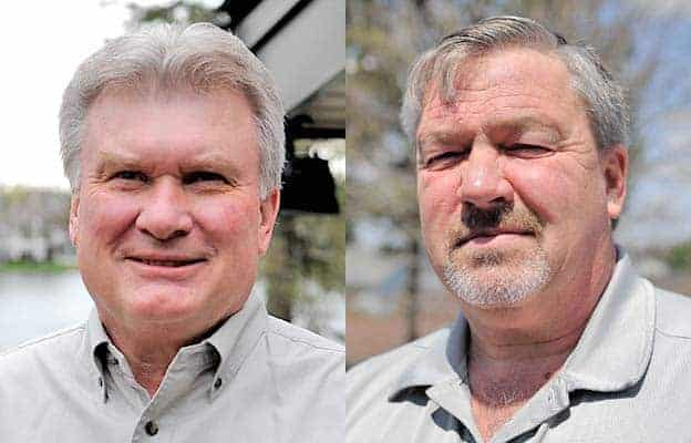 Brian A. Cunningham and Carl Smit are vying to fill the council seat vacated by Paul Hergott, who is running for mayor.[Will Sloan / The Observer]