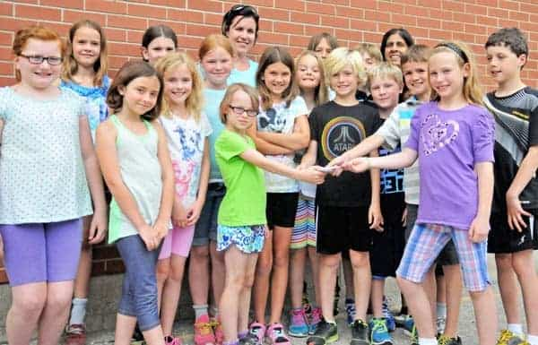 Madame Sheriff's Grade 4 French Immersion class raised $250 for POGO in honour of first grade student Sara Jean.[Submitted]
