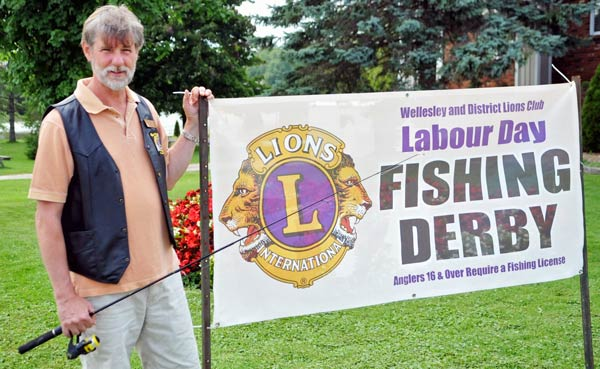 Peter van der Maas and the Wellesley Lions Club are set to host the Wellesley Fishing Derby September 1 at 10 a.m. [Scott Barber / The Observer]