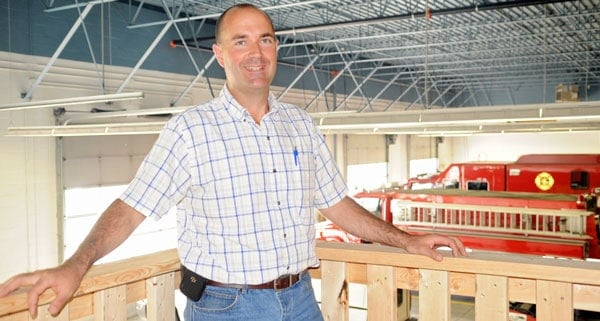St. Jacobs fire chief Craig Hoffman will welcome visitors to the St. Jacobs fire station as they check out the new training house and see some fire demonstrations.[Whitney Neilson / The Observer]